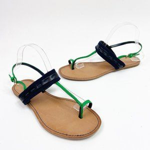 Tommy Hilfiger Navy Green Braided Brynn Sandals